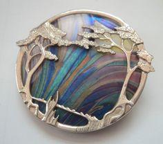 Superb Scottish Silver Brooch & Pendant - Pat Cheney / John Ditchfield Glass   eBay