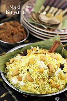 Fragrant and tasty Nasi Biryani flavored with spices and rose or kewra water. This aromatic rice is the perfect base for all your meat biryanis. | RotiNRice.com