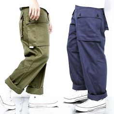 Baggy done right Gents Fashion, Workwear Fashion, Streetwear Fashion, Fashion Line, Look Fashion, Fashion Brand, Army Pants, Rugged Style, Japan Fashion