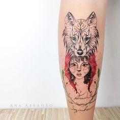 © Ana Abrahão (@abrahaoana) on Instagram: C H A P E U Z I N H O. V E R M E L H O ❤️ (Little Red Riding Hood) #contos #tattooartist #tattooist #chapeuzinhovermelho #brasilia #tatuagemfeminina #art #fineart #ink #inspiration #anaabrahao