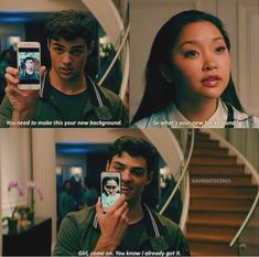 To All the Boys I've Loved Before scene was really cute Lara Jean, Love Movie, I Movie, Cute Movie Scenes, Cute Relationships, Cute Relationship Goals, Chick Flicks, Movie Lines, Romance Movies