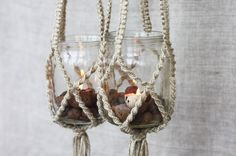 bohemian wedding decor macrame mason jars