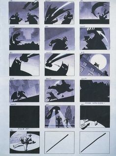 Batman the Animated Series - Story Board
