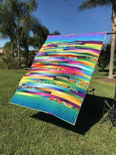 Modern Jelly Roll Race Quilt Tutorial - Carole Lyles Shaw