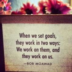 Goals and a clear positive mind....Essential in life and in success See a way to work from home here ~~~~>http://www.buildingdreams.ws/