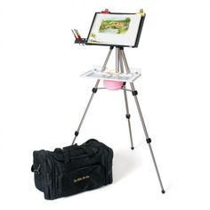 The En Plein Air Pro Advanced Series Watercolor Easel is lightweight, portable and assembles in minutes. The easel is perfectly sized to hold quarter watercolor sheets.
