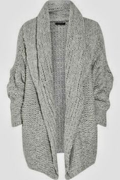 MODE THE WORLD: Oversized Grey Cardigan