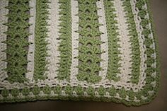 I highly modified this blanket from Caron.com, and came out with this pattern. I wanted a blanket that had plenty of texture and contrast, and I am pleased with how this turned out.