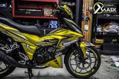 Tem Winnner 150 Chrome Xước Vàng Mẫu Motocross