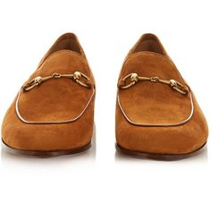 3b8e1cb3f3b Gucci Horsebit suede loafers ( 450) ❤ liked on Polyvore featuring men s  fashion
