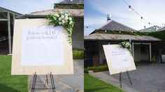 Kelly and Julian's wedding was located at Coriole Winery in South Australia. Wedding coordination, wedding styling, stationery and signage by emkho South Australia, Wedding Coordinator, Event Styling, Signage, Wedding Styles, Concept, Lettering, Billboard, Drawing Letters