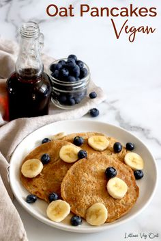 This vegan oat pancake recipe is uses simple ingredients and creates fluffy, delicious vegan gluten free pancakes. These are vegan oat pancakes with no banana in them! Full cooking video provided in the recipe card to help you make this easy vegan breakfast recipe. #Vegan #VeganRecipe #VeganBreakfast #VeganPancake #VeganGlutenFree #GlutenFreeVegan #VeganCooking #VeganMeal #VeganMealPrep #PlantBased #DairyFree #DairyFreeRecipe #Eggless Protein Oat Pancakes, Oat Flour Pancakes, Gluten Free Pancakes, Vegan Pancake Recipes, Vegan Recipes, Dairy Free Recipes, Vegan Gluten Free, Flax Seed Recipes, Vegan Meal Prep