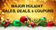 This list shares Major Holiday Sales, Deals, & Coupons from top retailers like GAP, Old Navy, Banana Republic, Tory Burch, Topshop, Betsey Johnson, Barneys, Delia's, Piperlime, Scoop NYC, Matches Fashion, etc. #shopping #coupons #fashion