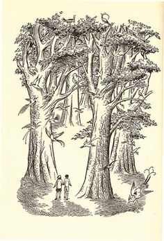 illustration by Pauline Baynes from The Silver Chair, Chronicles of Narnia