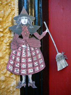 Halloween Witch Paper Doll