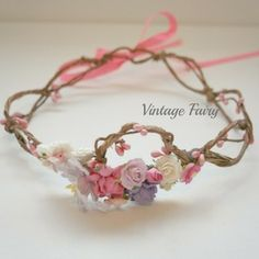 Princess flower crown in store now . Perfect for a little flower girl, princess dress ups, special occasions and much more