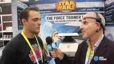 At CES 2015 you too can be a Jedi. Ed Baig checks out a Star Wars hologram and headset that lets anyone use the Force. Hologram, Channel, Star Wars, Science, Stars, Starwars, Science Comics, Star Wars Art