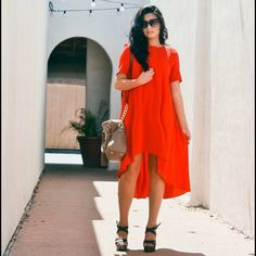 Asos red dress It's long and flowy! So comfortable for any occasion ASOS Dresses