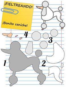 poodle dog shape felt tutorial - Cerca con Google