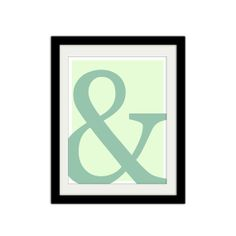Ampersand Poster. Typographic Poster. Blue and by SamsSimpleDecor, $15.00
