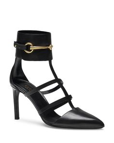 Gucci Pump - Ursula Caged Angle Strap High Heel
