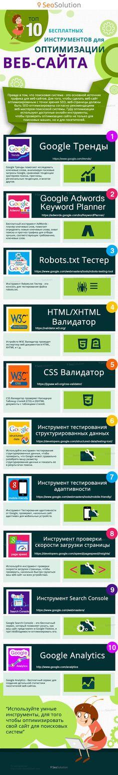 Инфографика: бесплатные инструменты SEO