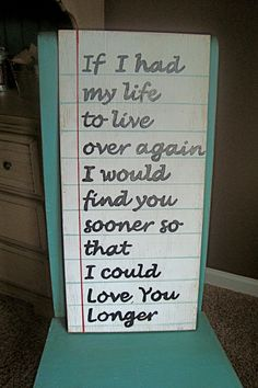 LOVE LOVE LOVE!!!  Wood sign made to look like Paper with Quote  by RusticBarndecor, $45.00