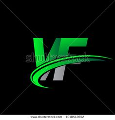 initial letter VF logotype company name colored green and black swoosh design. vector logo for business and company identity. Egg Packaging, Initials Logo, Initial Letters, Company Names, Fitness Tips, Identity, Royalty Free Stock Photos, Neon Signs, Ads