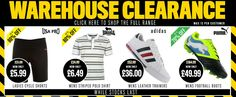 Clearance Banner with product recommendations from Sports Direct #Web #Banner #Digital #Online #Marketing #Sports #Hobbies #Clearance #Sale #Product #Recommendations