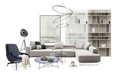 """Untitled #286"" by annie-qiu on Polyvore featuring interior, interiors, interior design, home, home decor, interior decorating and B&B Italia"