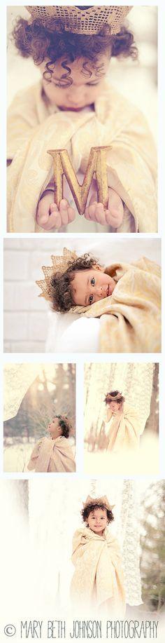 Snow Princess l Mary Beth Johnson Photography #whimisical children photography #photos #photoshoot