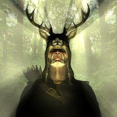 The Greenman  Cernunnos/Herne the Hunter...Herne the Hunter, by Artist Pete...