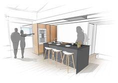 #KITCHEN #CONCEPT #DESIGN - @eginstillstudio | Interior kitchen design proposal for a private client in Utrecht, The Netherland. #Design@eginstillstudio  by #stefanospinella #stefano #spinella #spino #design #spinodesign #amsterdam #eginstill #concept