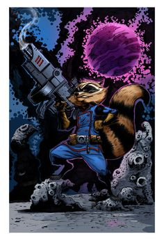 Rocket Raccoon Colored
