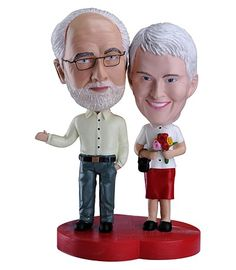 Love means forever with this long term bobblehead couple. Eternity on earth is the theme of this mature bobblehead couple that encapsulates how fondness knows no time.