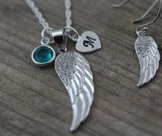 Sterling silver Angel Wing Necklace . Guardian by LifeOfSilver