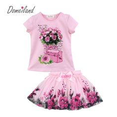 Cheap kids girls outfits, Buy Quality girls fashion outfits directly from China girls outfits Suppliers: 2017 fashion summer domeiland children clothing sets kids girl outfits print floral short sleeve cotton tops skirt suits clothes Fashion 2017, Kids Fashion, Fashion Outfits, Kids Girls Tops, Boutique Clothing, Clothing Sets, Floral Shorts, Kind Mode, Outfit Sets
