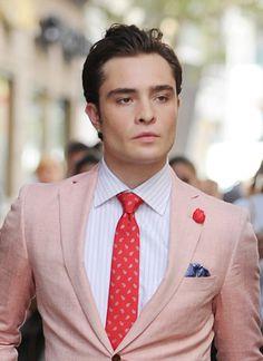Chuck Bass pink salmon jacket