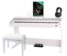 PIANO DIGITALE TECLADO PROFESIONAL 88 TECLAS USB AUX BANQUETTA AURICULARES SET