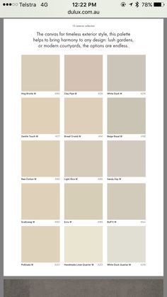 Dulux exterior paint colours Australia