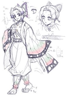 whitmoon: [Study-doodle] Another study doodle to draw character before bed. ///-/// Shinobu Kocho is also my favorite! Her smile and her eyes are so unique. I love all female characters in this anime ///-///! Anime Character Drawing, Character Art, Character Design, Beyblade Characters, Anime Characters, Female Characters, Demon Slayer, Slayer Anime, Drawing Reference