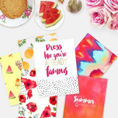 Six free printable summer prints and giftwrap to download just for you! Fruity,floral,fun and fabulous!