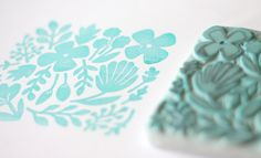 hand carved stamp (with tutorial) by minna may