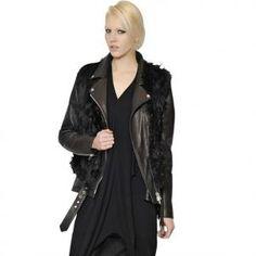 50% off Maison Martin Margiela - Jacket Nylon & Leather Alpaca Vest Black - $4620 #maisonmartinmargiela #alpaca #vest #jacket