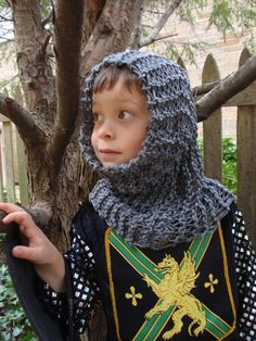 Brave Knight Chainmail Hood for Dress up by jollyslittlecloset, $20.00
