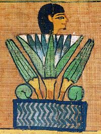 Papyrus Paintings from the Book of the Dead Spell for being transformed into a lotus