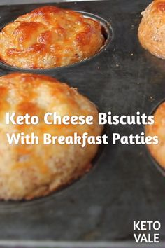 Keto Cheese Biscuits With Breakfast Patties - Keto Breakfast - Ideas of Keto Breakfast - Keto Cheese Beef Patty Breakfast Biscuits Low Carb Recipe Keto Foods, Ketogenic Recipes, Keto Recipes, Fish Recipes, Induction Recipes, Slimfast Recipes, Chicken Recipes, Flour Recipes, Mexican Recipes