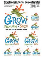 Grow Sunday School Iron On (pack of five iron ons)