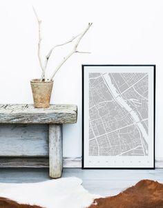 Warszawa, mapa, Kate Syska Design