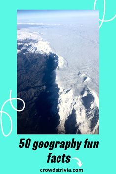 These 50 Geography fun facts will amaze and surprise anyone. Geography, countries, continents, mountains, demographic, everything is here! #geography #facts #funfacts #trivia #quiz #crowdstrivia Funny Quiz Questions, Trivia Questions And Answers, Fun Facts About Dogs, Fun Facts For Kids, Dental Fun Facts, Wtf Fun Facts, Australia Fun Facts, Harry Potter Fun Facts, Quizzes Funny